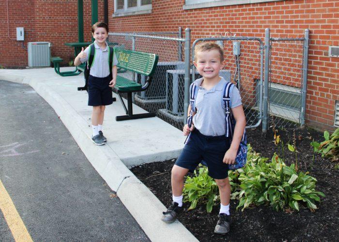st. michael school students before school