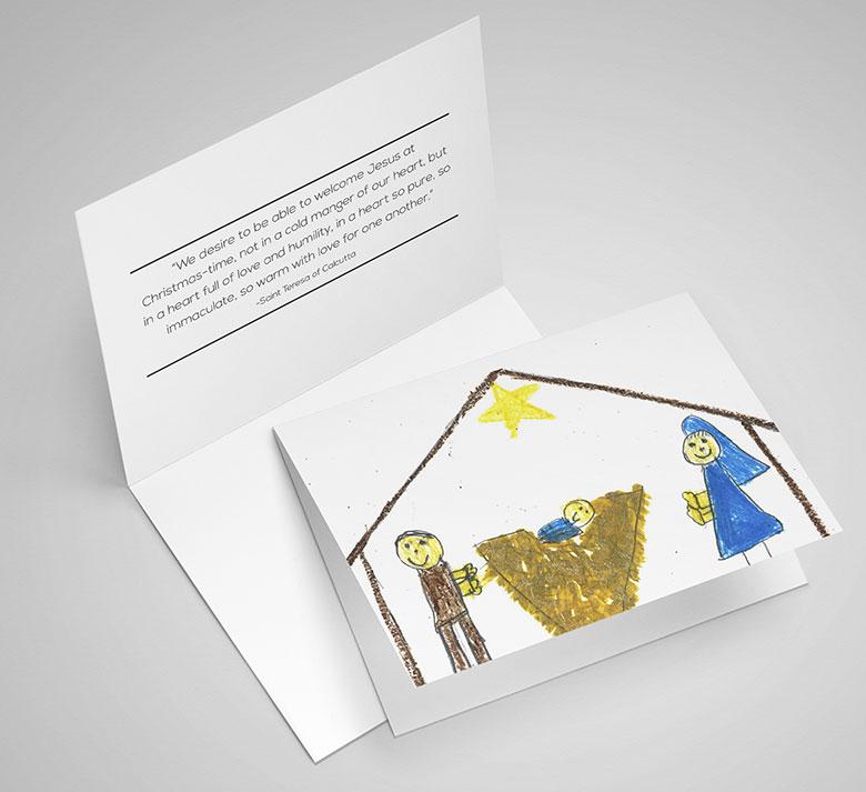 Christmas Humility greeting card by Ana Sofia