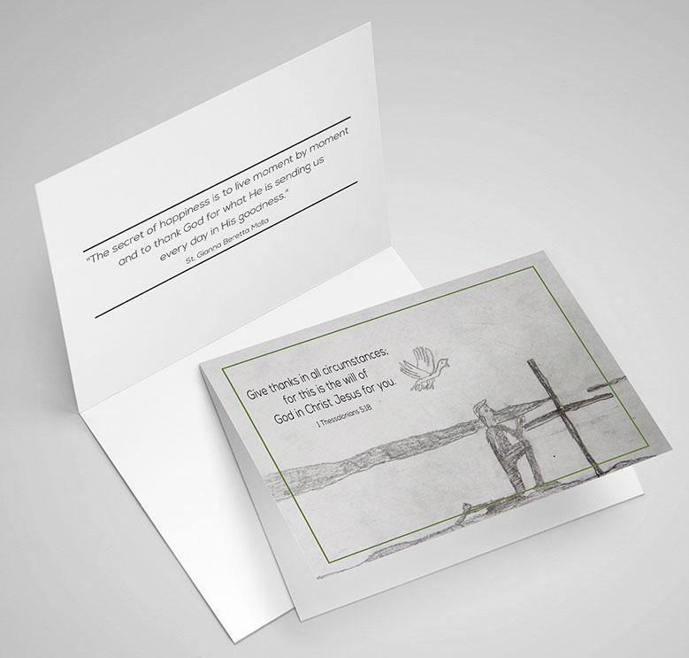Gratitude greeting card by Sam